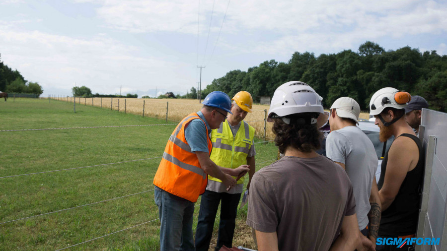 SIG Projekt: Freileitungsabdeckung 20 kV in Corsier GE