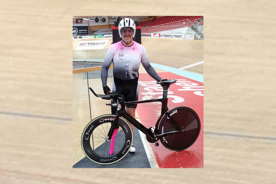 Sportsponsoring: Unser Technischer Verkaufsberater Patrik Ifanger hat den CH Rekord im Para-Cycling (Bahn/Sprint) geknackt!